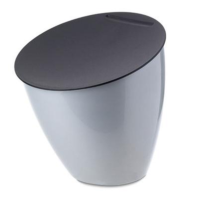Rosti Mepal Abfallbehälter Calypso silber silver Design-Mülleimer ...