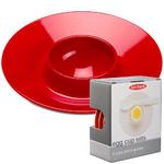 zum Artikel Rosti Mepal Eierbecher Set luna rot - 4x Eierbecher 4x Löffel Design Eierbecher