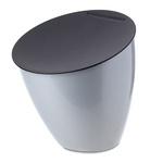 zum Artikel Rosti Mepal Abfallbehälter Calypso silber silver Design-Mülleimer Küche Bad Abfall Müll