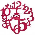 zum Artikel Koziol Wanduhr Zeigeruhr PI:P himbeer rot Uhr