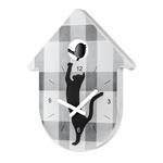 zum Artikel Koziol TOC-TOC Wanduhr Zeigeruhr Katze und Vogel weiß