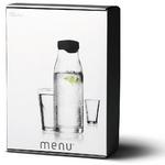 zum Artikel Menu Karaffe 1 Liter schwarz Set plus 2 Gläser 30cl