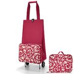 zum Artikel reisenthel Falt-Trolley Einkaufsroller foldabletrolley baroque-ruby Barock-Rot Falttroll
